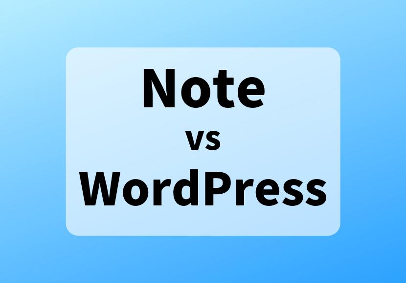 note vs wordpress